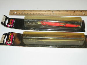 Lot of 2 Cotton Cordell Red Fin Redfin 5 12  inch Minnow Lures - SHAD Chrome