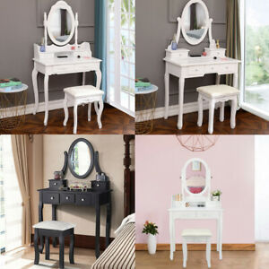 Modern Vanity Set With Jewelry Drawers Dressing Table Makeup Desk