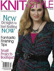 Knit Style Magazine Sewing Designs Finishing Tips Small Projects Boutique 2013 $10.46