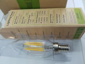 CRLight 3000K Dimmable LED Candelabra Bulb 4W Soft Soft White 3000K - 6 Pack