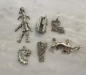 Dealer's Lot of 6 Sterling Silver Miscellaneous Charms ~ 16.3 grams ~ 8-I7175
