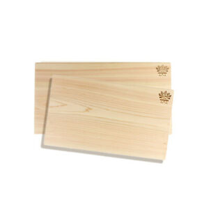 Hinoki Cypress Solid Wooden Reversible Cutting Board  No Knots Set of 2