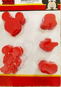 Disney Mickey Mouse Silicone Molds Baking Cooking Chocolate Decor 5 Piece Set