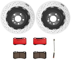Brembo Rear Brake Kit Ceramic Pads Sensor PVT Disc Rotors For MB R230 Sport Pkg