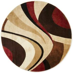 Round Contemporary Abstract Multi Color Area Rug **FREE SHIPPING** $114.50