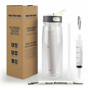 Water Bottle BPA Free Filter Straw for Camping,Hiking,Backpacking,Travel 2-Stage