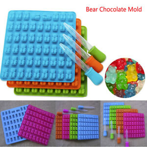 53 Cavity Gummy Silicone Bear Chocolate Mold Candy Maker Ice Tray Jelly Moulds S