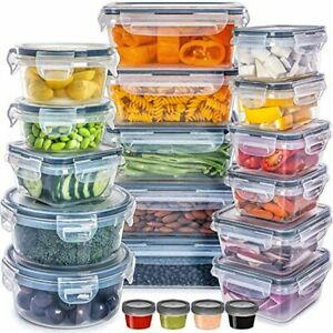 Food Storage Containers with Lids - Plastic Food Containers with Lids - Plastic