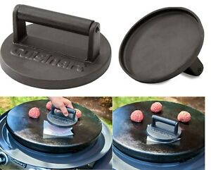 Cuisinart Smashed Burger Grill Press Cast Iron  Heavy Duty Weight CISB-111 New
