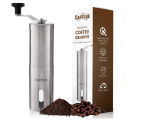 Manual Coffee Grinder - Premium Quality - Brushed Stainless Steel