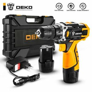 Cordless Drill Electric Screwdriver Mini Wireless Power Driver DC Lithium-Ion