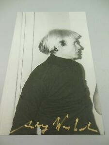 ANDY WARHOL HAND SIGNED SPECIAL  PRINT IN GOLD PEN