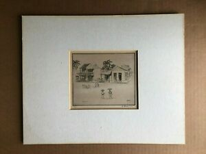 Original Pencil-Signed 1937 Etching HIRST MILHOLLEN 'Miragoane Haiti' 850