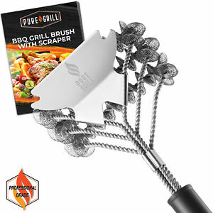 18 Stainless Steel Bristle Free Grill Brush Scraper Tool for Cleaning BBQ