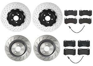 Brembo Front Rear Sport Brake Kit Disc Rotors Low-Met Pads & Sensors For MB R230
