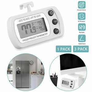 LCD Digital Refrigerator Fridge Freezer Room Temperature Thermometer with Hook