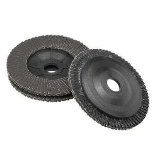 4 Inch Flap Discs 72 Page Grinding Wheels for Angle Grinders 320 Grits 3 Pcs