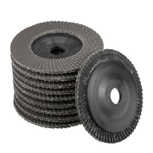4 Inch Flap Discs 72 Page Grinding Wheels for Angle Grinders 320 Grits 10 Pcs