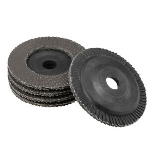 4 Inch Flap Discs 72 Page Grinding Wheels for Angle Grinders 120 Grits 5 Pcs