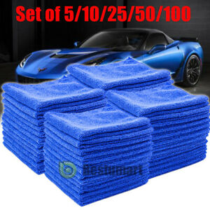 Microfiber Cleaning Cloth Towel Absorbent No Scratch Polishing Detailing Rags $27.99
