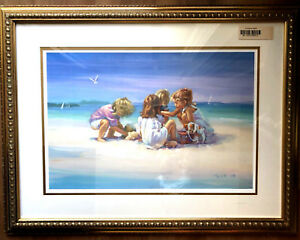 """Lucelle Raad quot;Island Girls"""" 20 950 Limited Edition Lithograph On Paper Large Art $350.00"""