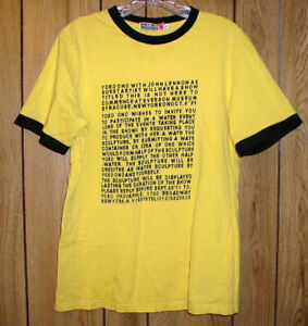 John Lennon Yoko Ono This Is Not Here T Shirt October 9, 1971