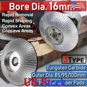 3Type Bore 16mm  Angle Grinder Grinding Wheel Wood Sanding Carving Disc 85-100mm