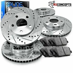 Brake Rotors FULL KIT ELINE DRILLED SLOTTED & PADS -BMW M5 1989 - 1993
