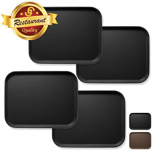 4pc Rectangular Restaurant Serving Tray NSF Certified Non Skid Food Service Tray