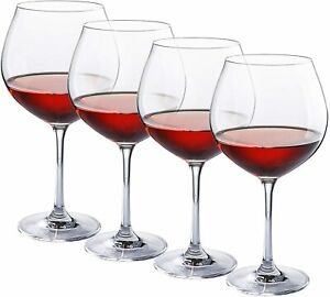 Large Red Wine Glasses-Crystal Glass-Lead Free-Wine Glasses Set of 4 (27 Ounce)