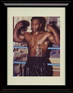 Framed Mike Tyson Autograph Promo Print - Iron Mike