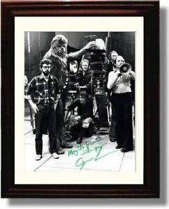 Framed George Lucas Autograph Promo Print - Early