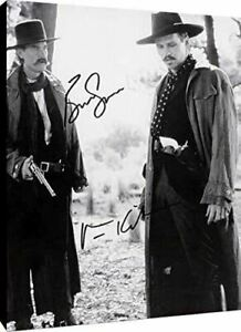Tombstone Autograph Promo Print Canvas Wall Art - Kurt Russell and Val Kilmer