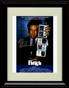 Framed Chevy Chase Autograph Promo Print - Fletch Movie Poster