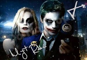 Suicide Squad - Jared Leto and Margot Robbie Autograph Replica Poster