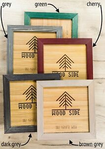 Rustic Wooden Picture Frames Natural Solid Distressed Wood Wall Tabletop $16.99