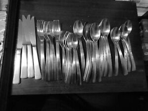 37 Pieces of Gourmet Settings Stainless 18/10 Carry On Park Matte Flatware