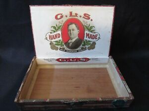 RARE Ca. 1900's George L. Schulz Cigar Box Saginaw, Michigan
