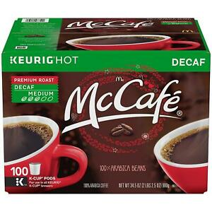 McCafe Decaf Premium Roast Medium Coffee (100 K-Cups), Keurig hot k200, k50, k55