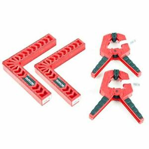 Corner Clamp L type right angle ruler fixed 90 degree set of four clamp with woo