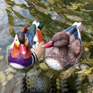 2x Lifelike Bird Statue Sculptures Outside Decorations for Garden Pond Gifts