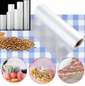 Reusable Storage Bag Vacuum Sealer Bags Food Saver Keep Fresh Tool 1 Rolls