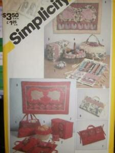 Simplicity Sewing Pattern 5311 Quilted Sewing Accessories Wall Hangings $2.99