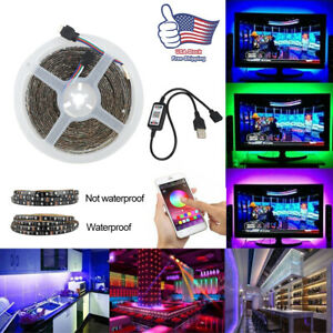 Universal RGB LED Smart Strips Bluetooth Control Remote with music sync $14.93