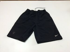 """Vintage Nike Gray Label Fit Dry Boys Youth Shorts Black XS 7"""" Inseam $7.99"""