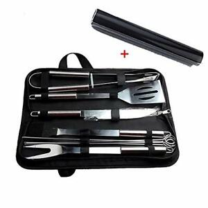 Barbecue Accessories BBQ Grill Tools with Mat 10 PCS Grill Set Stainless Steel