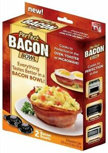 Dishwasher Safe Bacon Bowl Great for Eggs Salads Pasta and More (2 Bacon Bowls)