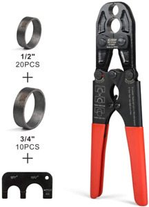Pex Copper Crimp Ring Tool with Combo Jaw 12-inch & 34-inch