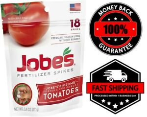 Jobe's Tomato Fertilizer Spikes 18 Spikes Plants Food Fast Growing Feeding Roots