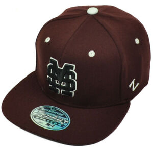 NCAA Zephyr Mississippi State Bulldogs 93 Fitted Size Small Flat Bill Hat Cap $18.00